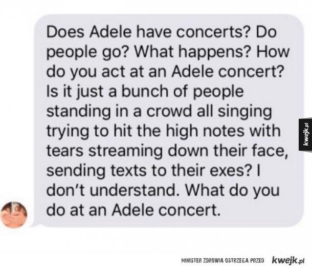 na koncertach adele