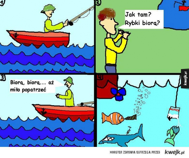 rybki biorą