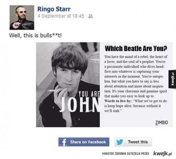 Ringo zrobił test na fejsiku