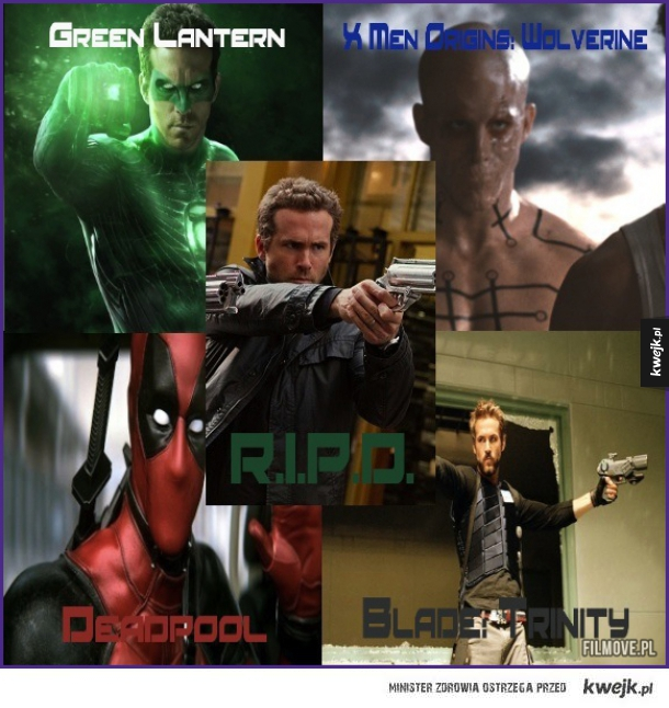 Ryan Reynolds lubi grać w ekranizacjach komiksów