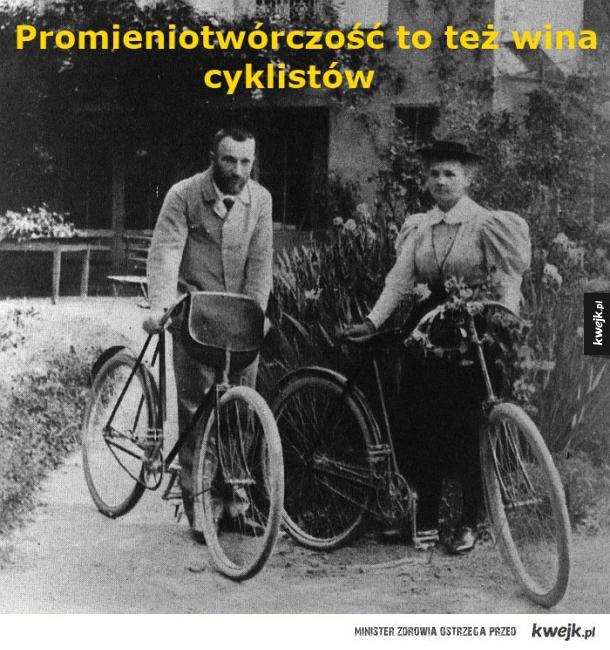 Cykliści...