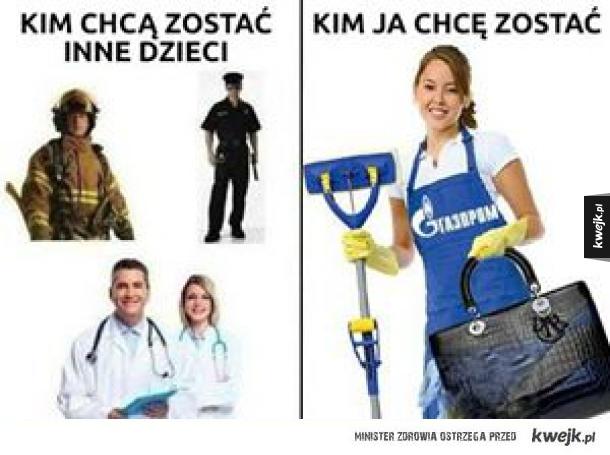Sprzątaczka Gazpromu