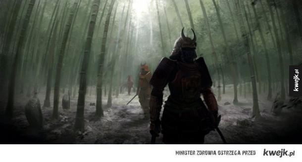 Niesamowite grafiki przedstawiające samurajów