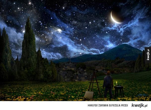Gwieździsta noc Van Gogha inaczej