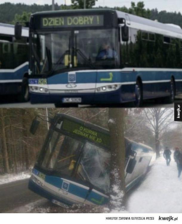 śmieszkowy autobus