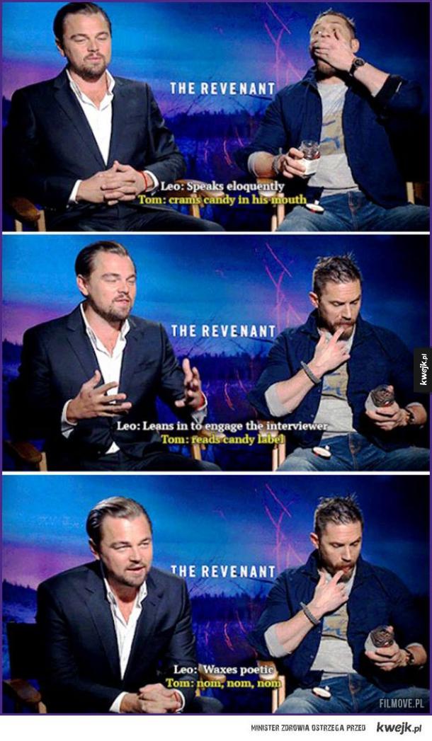 Różnica między Leonardem DiCaprio a Tomem Hardy