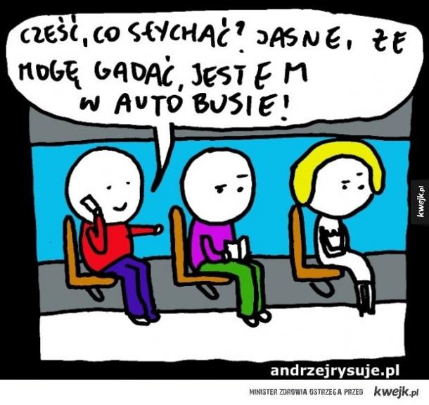 Gadanie w autobusie