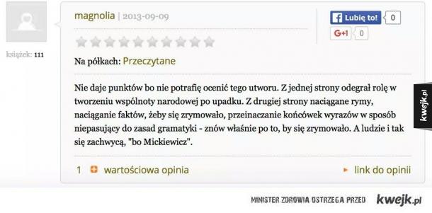 Taka tam recenzja Pana Tadeusza