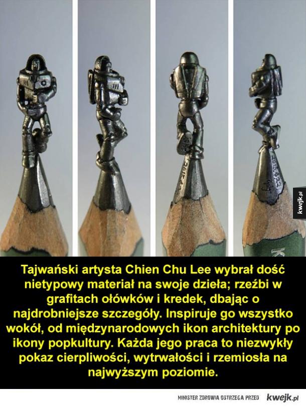 Grafitowe rzeźby