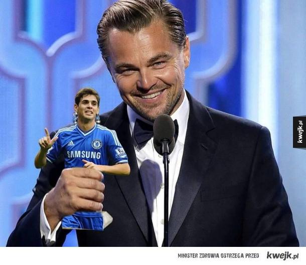 Leonardo trzyma Oscara