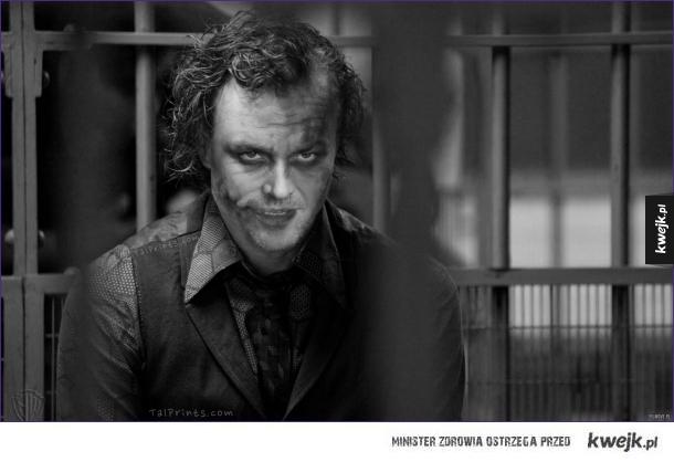 Joker - 50% Jack Nicholson, 50% Heath Ledger