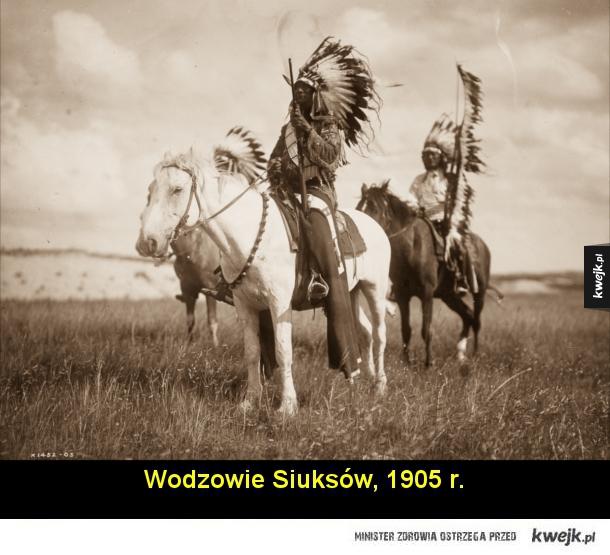 Historyczne zdjęcia Indian z początku ubiegłego wieku