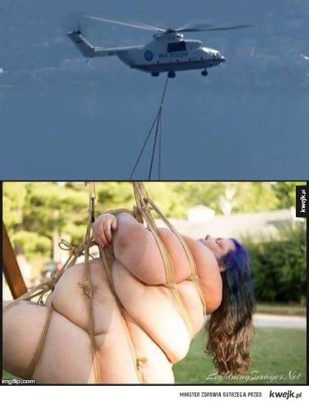 Szacun dla helikoptera, że dał radę