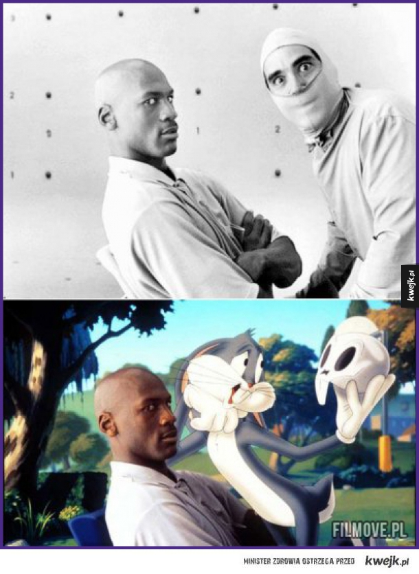 Michael Jordan i Królik Bugs na planie Kosmicznego Meczu