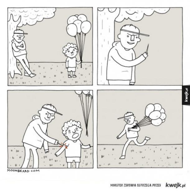 krótka historia o balonach