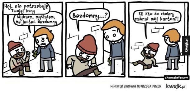 No i już bezdomny