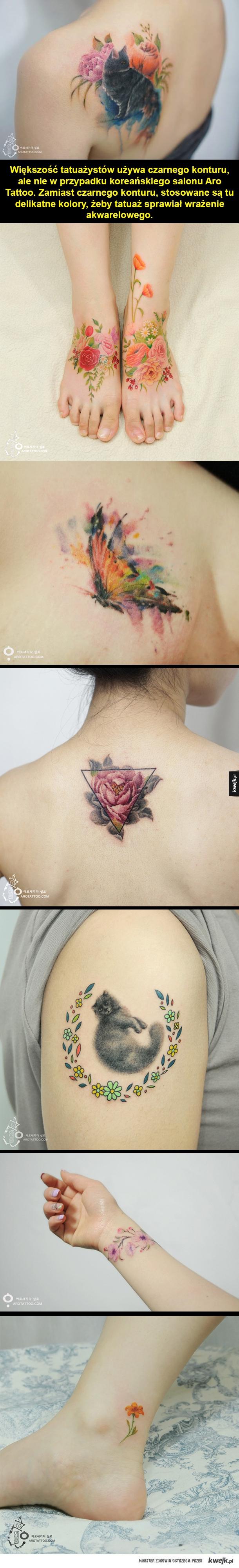 Akwarelowe Tatuaże Ministerstwo śmiesznych Obrazków