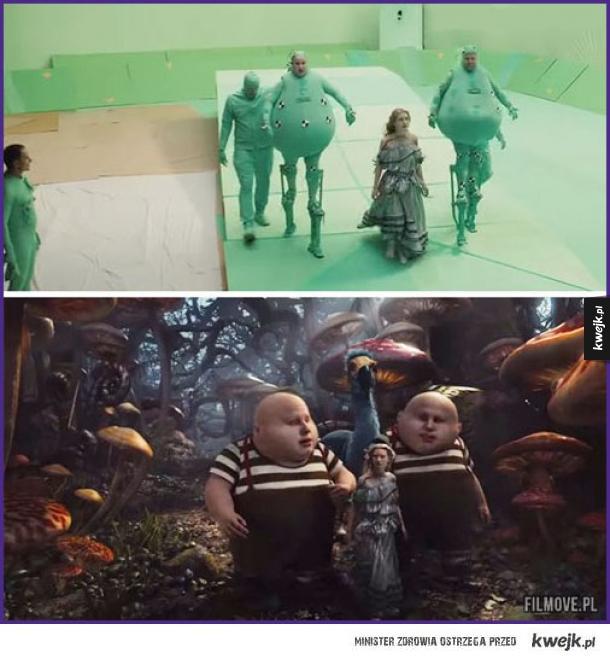 ALicja w krainie czarów - przed i po CGI