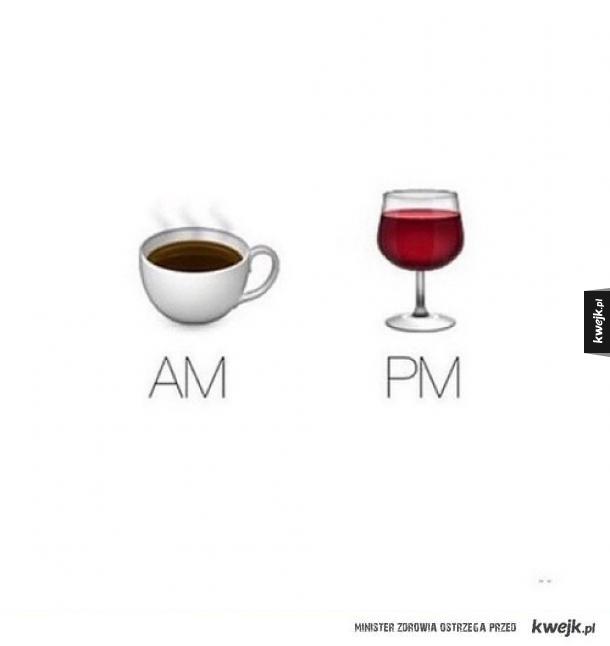 Napój dobrany do godziny