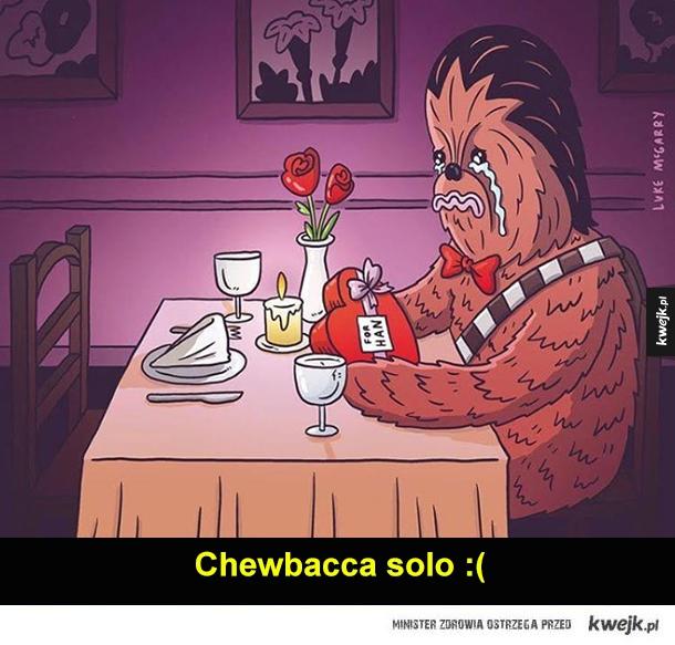 Biedny Chewbacca :(