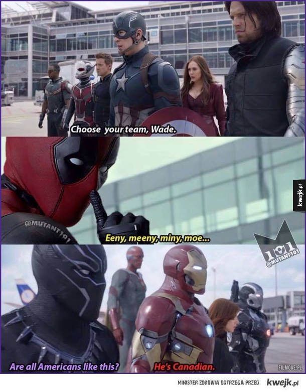 Deadpool w Captain America: Civil War