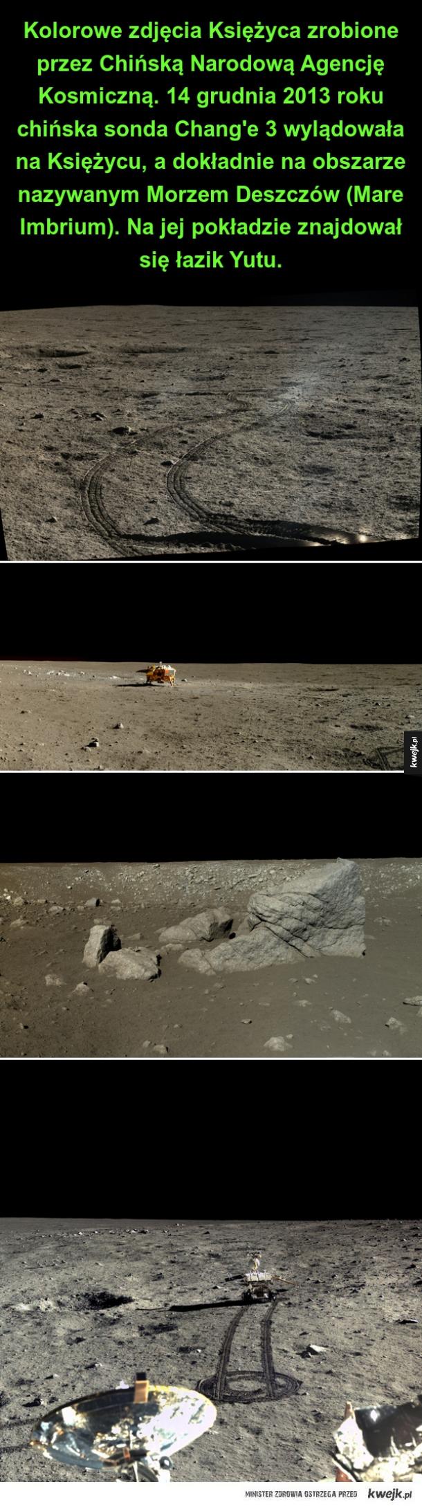 Kolorowe zdjęcia Księżyca