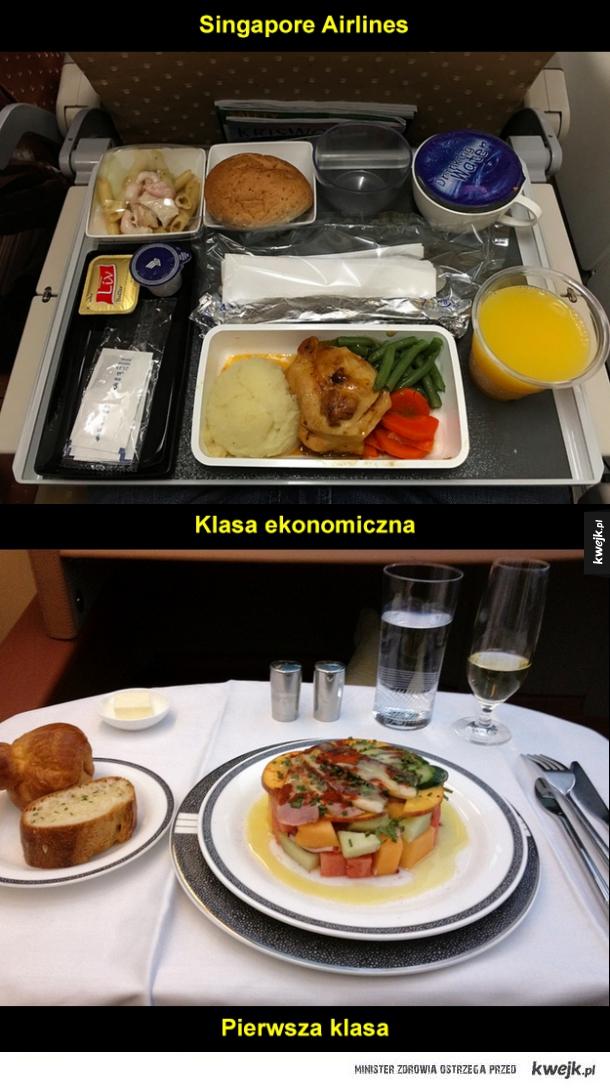 Posiłki na pokładach samolotów
