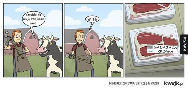 Przygody krowy mówiącej ludzkim głosem