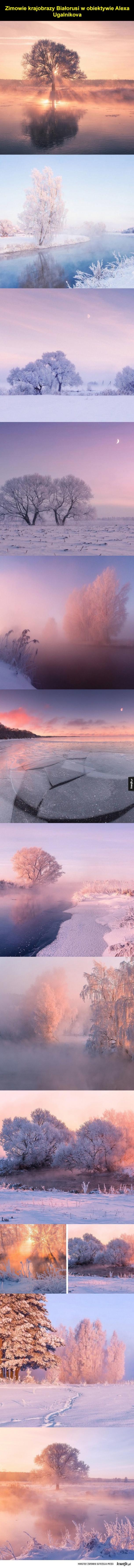 Zimowe pejzaże z Białorusi