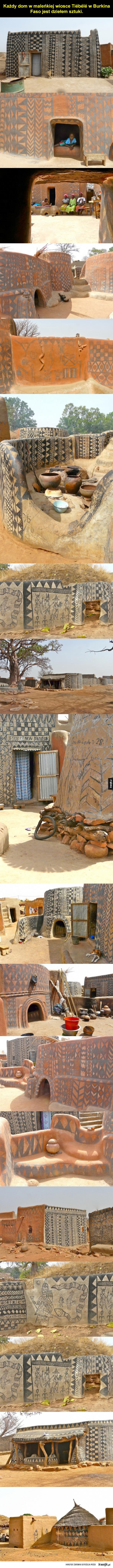 Piękna, afrykańska wioska