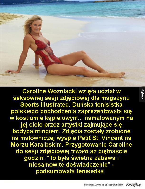 Odważna sesja zdjęciowa tenisistki Caroline Wozniacki