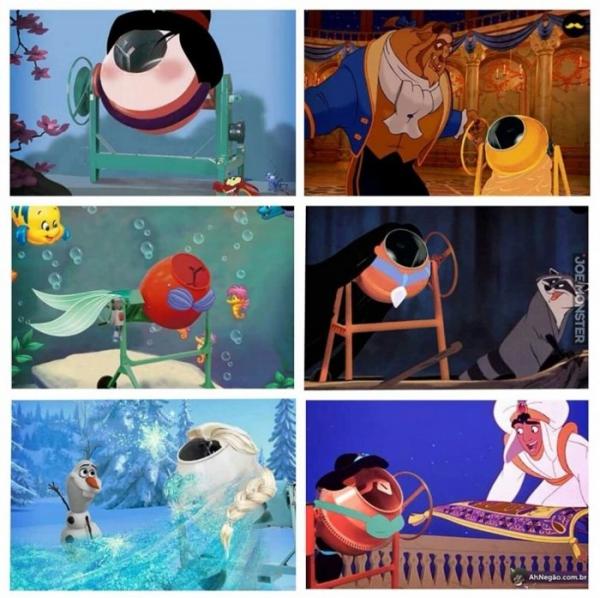 Księżniczki Disneya, jako betoniarki