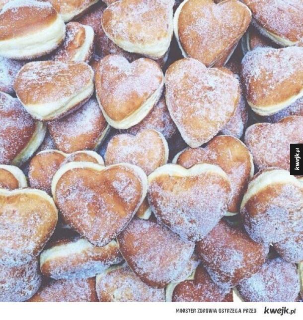 Pączki w kształcie serca