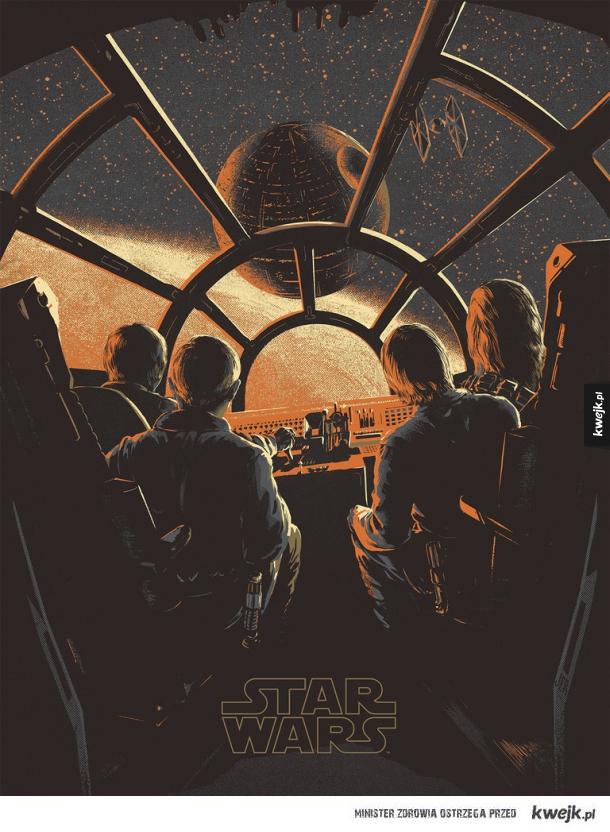 Niesamowite plakaty i grafiki inspirowane Gwiezdnymi Wojnami