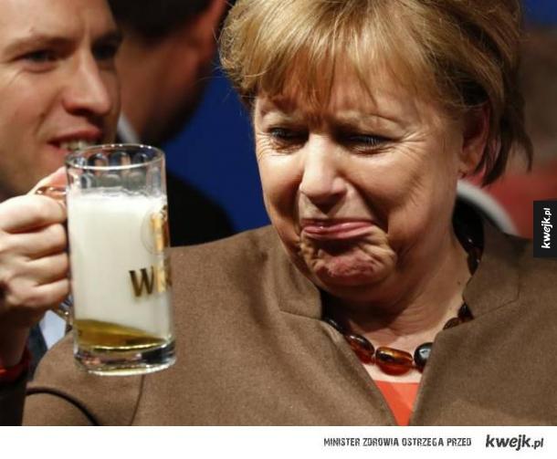 Ta mina gdy pijesz niemieckie piwo
