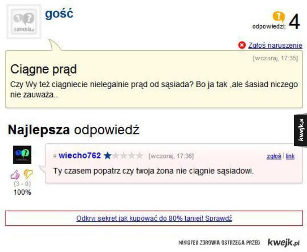 Najlepsze odpowiedzi na problemy internautów