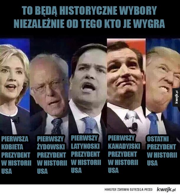 Historyczne wybory na prezydenta USA