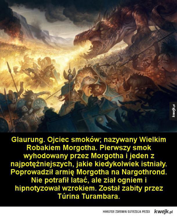 Ankalagon Czarny. Najpotężniejszy ze smoków Morgotha. Został zabity przez Earendila podczas Wielkiej Bitwy pod koniec Pierwszej Ery. Strącone cielsko Ankalagona zdruzgotało wierze Thangorodrimu wznoszące się ponad Angbandem. Podczas tej bitwy zginęły prawi