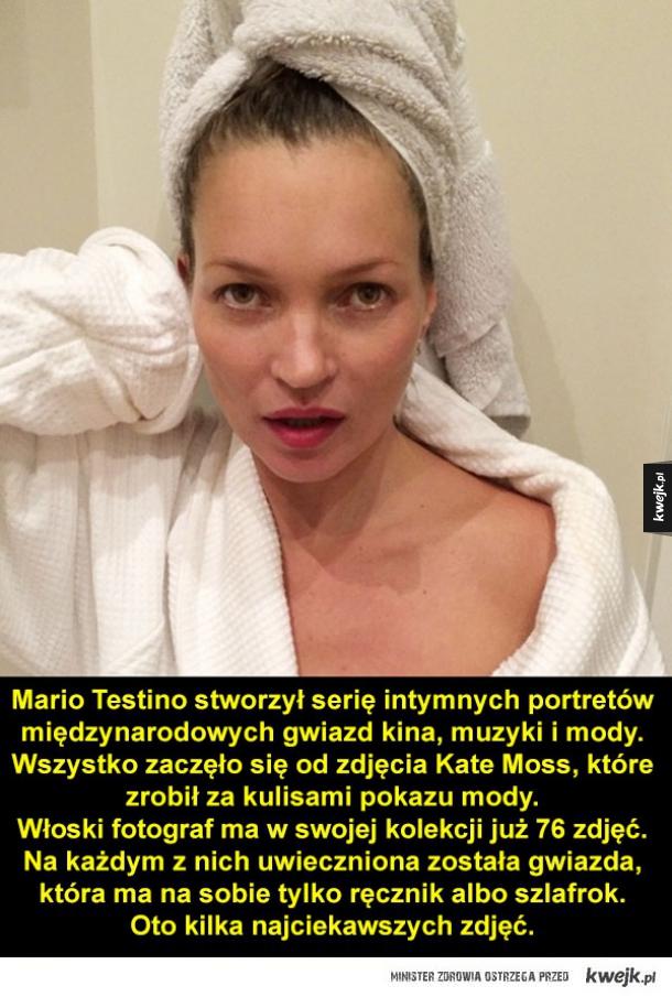 Gwiazdy w samych ręcznikach na zdjęciach Mario Testino