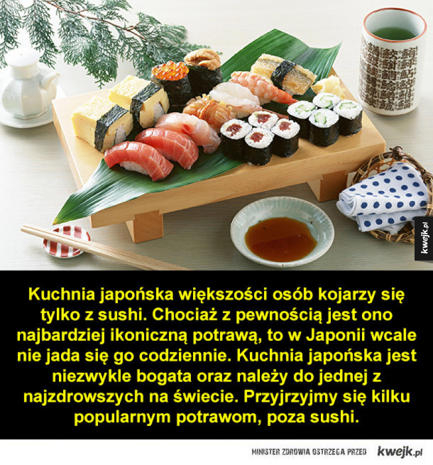 Kuchnia japońska to nie tylko sushi