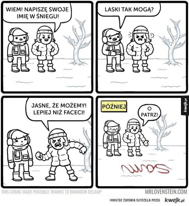 Napisy na śniegu