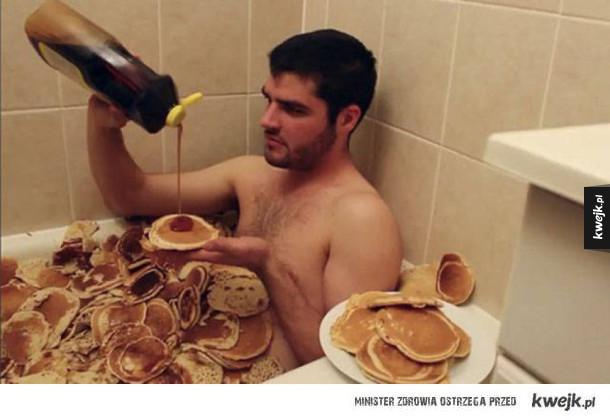 Kąpiel w naleśnikach