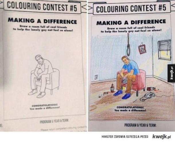 Kolorowanki psychopatów