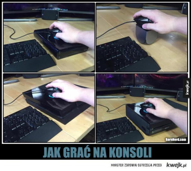 Poradnik jak grać na konsoli