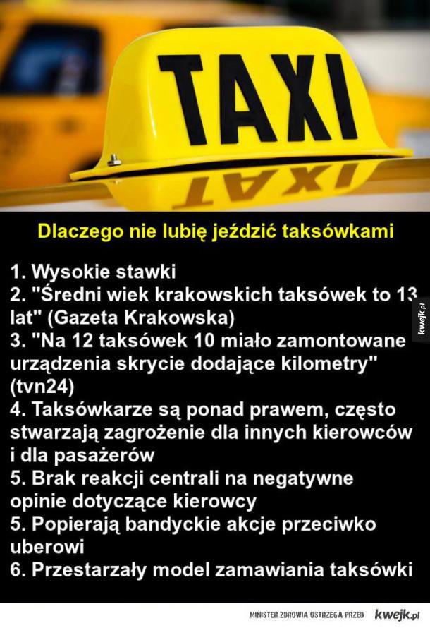 Dlaczego nie lubię jeździć taksówkami