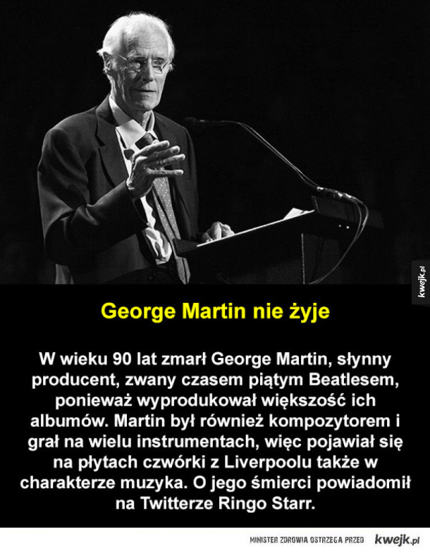 Zmarł George Martin