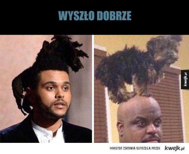 identyczna fryzura