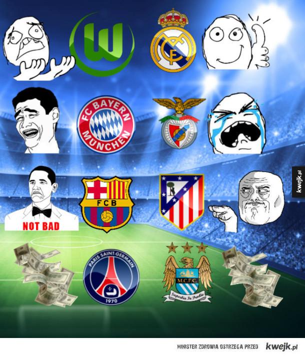 Reakcja na losowanie ćwierćfinałów Ligi Mistrzów