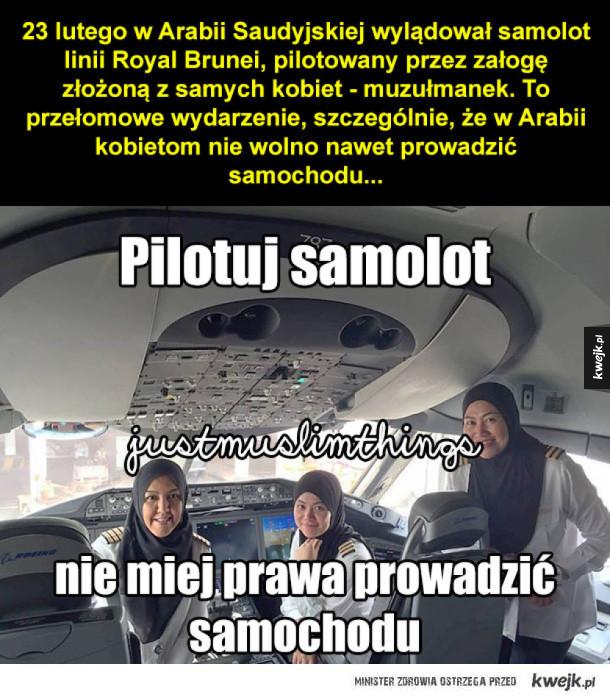 Muzułmańskie pilotki