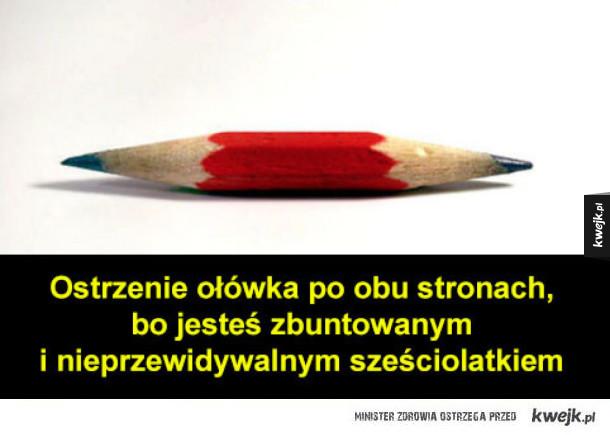 ostrzenie ołówka